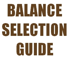 BALANCE SELECTION GUIDE